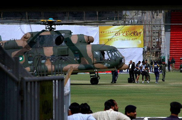 Bats replaced by guns, balls replaced by bombs, and players replaced by soldiers. Cricket in Pakistan. Is dead.