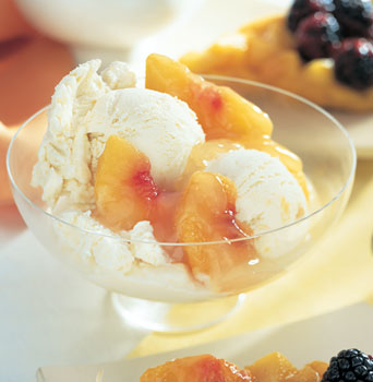 Peach Custard Ice Cream ;)