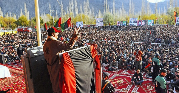 11 - November-Elections in Gilgit-Baltistan-PM Gilani addresses a crowd in Skardu-Unknown