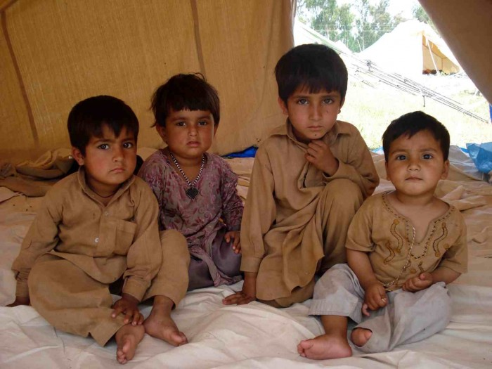 6 - June 09-child refugees from the conflict between the Taliban and government troops in Pakistan's Swat valley-the mirror