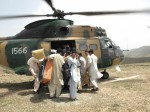 6 - June-IDPs being flown out of Swat by the Pakistan Army-ISPR